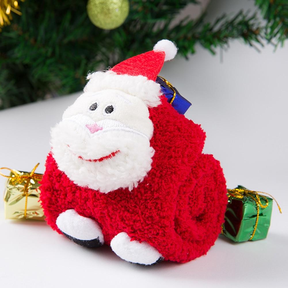 Parent Child Warm Thick Winter Cartoon Elastic 3D Pattern Socks Anti-slip Christmas Cute Soft Funny