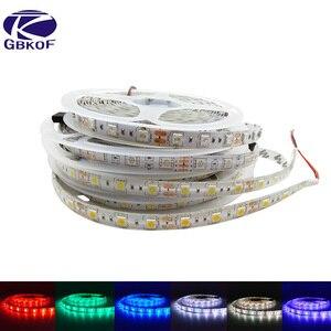 GBKOF 5050 SMD 2835 60LEDs/m RGB led strip light 5M LED tape luminaria 12V ribbon White Warm White Blue Red Green Yellow color(China)