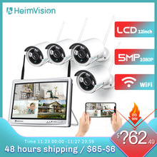 HeimVision 1080P Wireless WiFi Security Camera System 12 inch LCD Monitor 8CH NVR 4Pcs