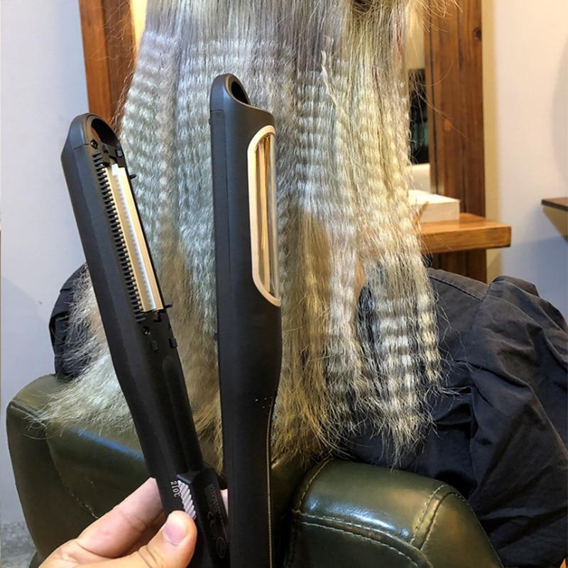 crimper cabelo waver alisador curling ferro titânio