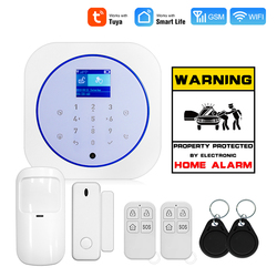 Fuers G12 System alarmowy wi-fi GSM Tuya APP bezpieczeństwo w domu Alarm Buglar 11 języków Switich z 433Mhz wykrywacz ruchu czujnik drzwi