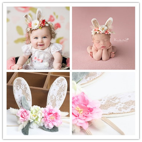 Baby Lace Baby Girls Hair Head Band Infant Newborn Bows Headwear Hairband Headwrap Floral Headbands Baby Photography Prop