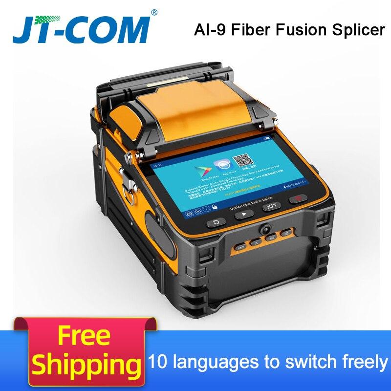 AI-9 automatique SM & MM multi-langue intelligente FTTH Machine d'épissage de fibers optiques épisseuse de Fusion de fibers optiques