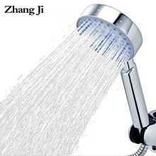 Zhangji banheiro cabeça de chuveiro multi-camada galvanoplastia cinco-função abs bocal grande painel entrega rápida
