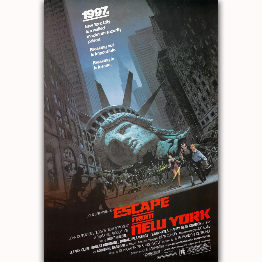 MQ1499 US Movie Escape From York Film Classic Vintage Hot New Art Poster Top Silk Light Canvas Home Decor Wall Picture Printings(China)