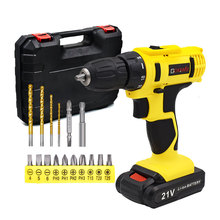 GOXAWEE 12V 21V Electric Screwdriver Mini Cordless Drill Wireless Power Driver Tools Rechargeable Lithium Battery Screwdriver cordless drill mini 12v 16 8v 36v rechargeable power tools 2 speed flexible shaft cordless screwdriver electric