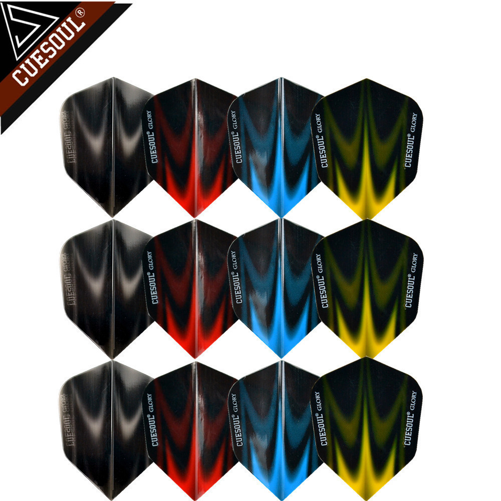 CUESOUL 12pcs 4 Sets Extra Thick Translucent Dart Flights Tails Wings Dardos Feather Leaves For Dartboard Games Accessories