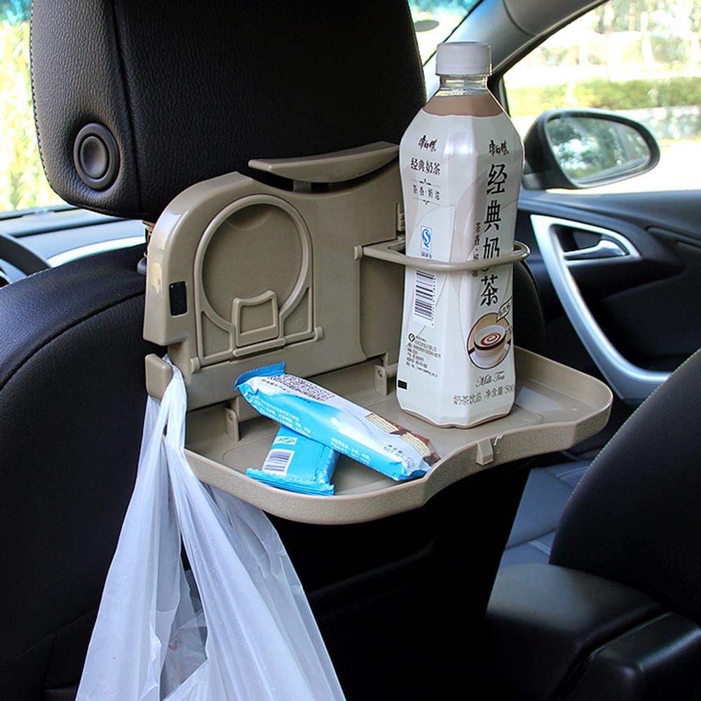 LEEPEE Car folding table Auto Drink Food Cup Tray Holder Stand Desk car cup holder Car Accessories Car Back Seat Table