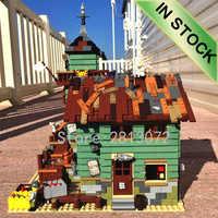 En Stock 16050 l'ancien magasin de pêche 2109 pièces ville créateur Street View MOC modèle blocs de construction compatibles avec 21310 jouets