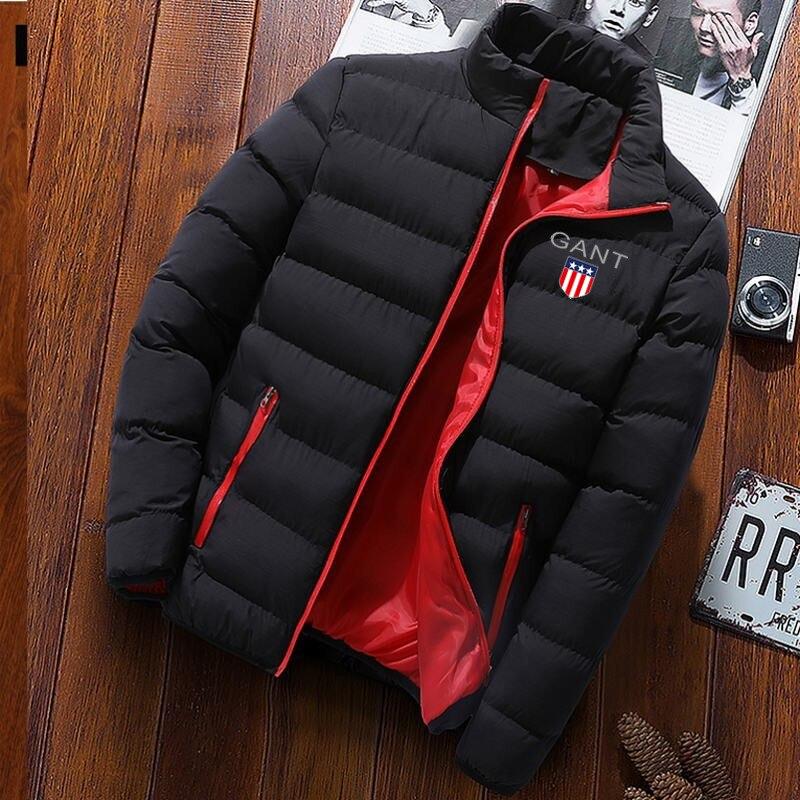 2021 Лидер продаж мужские Длинные рукава зимняя куртка Gant Парка хлопковая новые модные стенд на меху с застёжкой-молнией и по низкой цене Женс...