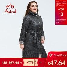 Astrid 2020 Весеннее новое поступление женская куртка высокого качества свободная одежда для женщин размера плюс длинное пальто с поясом а весеннее женское пальто AM-9428