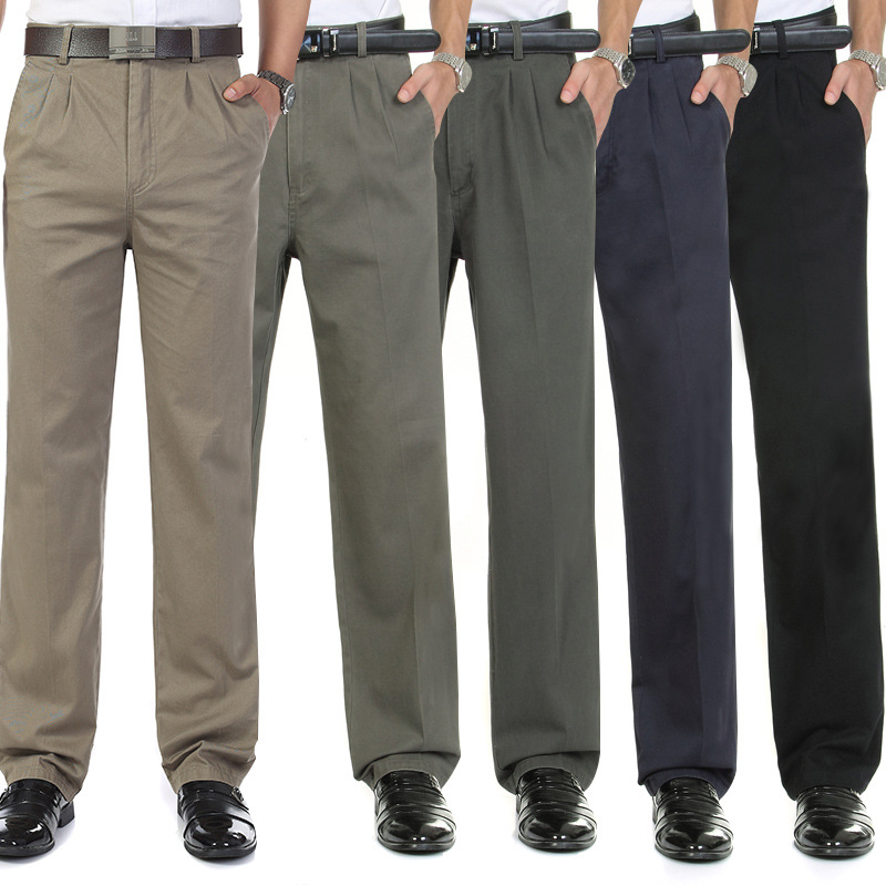 Autumn Trousers Middle Aged And Elderly People Men's Trousers Suit Pants Men Autumn Clothing Dad Pants Men's Thin Casual Pants