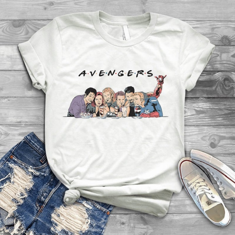 Harajuku Avengers Endgame Friends <font><b>T</b></font> <font><b>Shirt</b></font> <font><b>Women</b></font> <font><b>Tony</b></font> <font><b>Stark</b></font> friends <font><b>T</b></font>-<font><b>Shirt</b></font> men funny graphic tee Summer Tops camisetas image