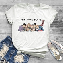 Harajuku Avengers Superheroes T Shirt Women Tony Stark friends T-Shirt House GOT funny graphic tee Summer Tops camisetas