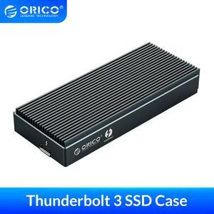 Корпус ORICO Thunderbolt 3 NVME M.2 SSD, поддержка 2 ТБ 40 Гбит/с, алюминиевый SSD чехол USB C с Thunderbolt 3 C к C кабель для ноутбука