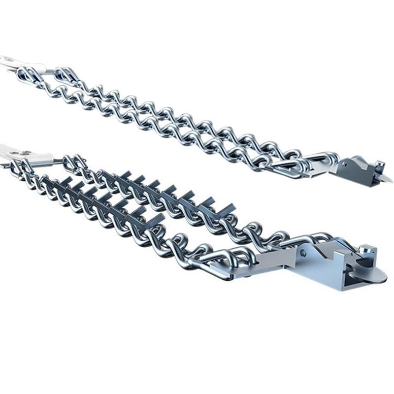 Автомобильная цепь для снега противоскользящие износостойкие болотные гвозди из марганцевой стали для снега и грязного дорожного типа