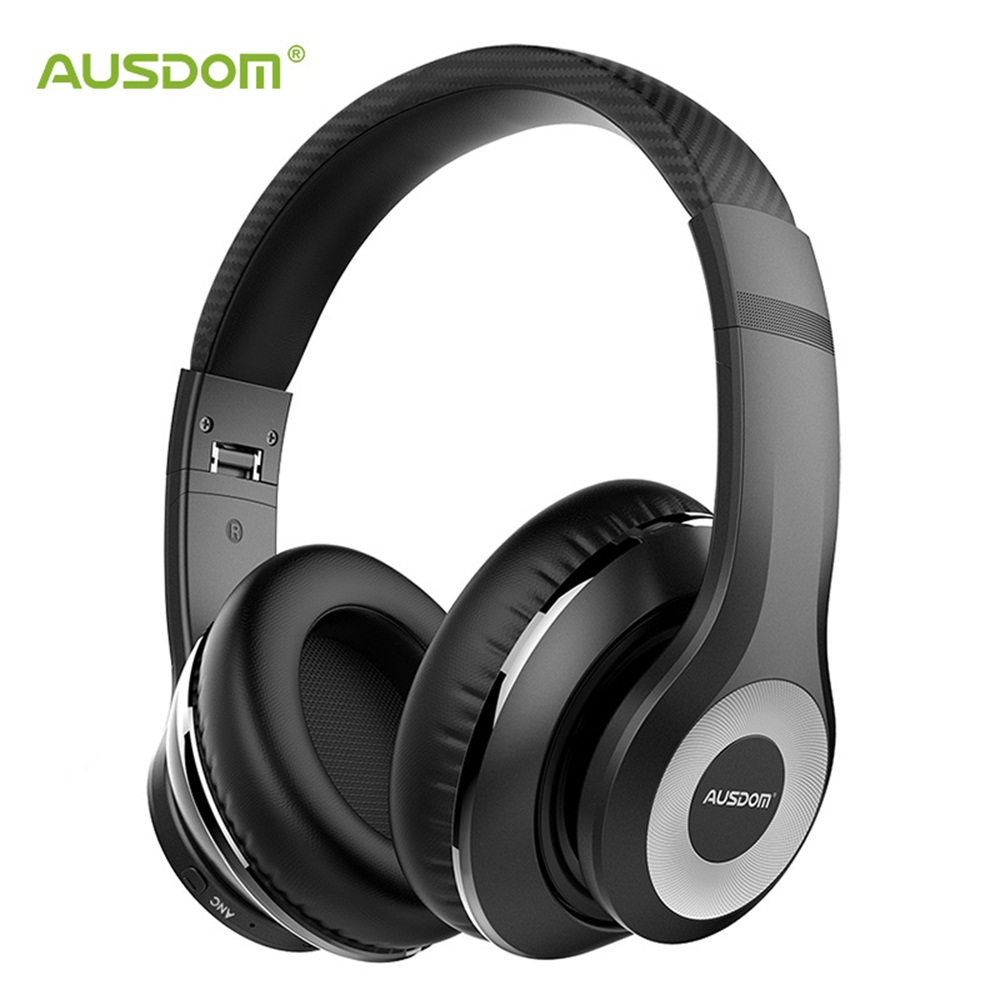 AUSDOM NEW ANC10 V5 0 Wireless Bluetooth Headphones Folding Active Noise Cancelling Wireless Earphone Headset With