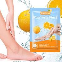 Mascarilla para los pies, máscara para el cuidado de los pies, blanqueadora de olores, fruta, lavanda, ácido, mascarilla para el cuidado de los pies mas O4Q5