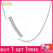 ZHIXI, 18 К, белое золото, ювелирное изделие, Настоящее Белое золото, цепочка, ожерелье, 18 дюймов, Au750, классический свадебный подарок для женщин zxx312bay