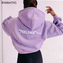 Wannathis женские модные повседневные толстовки с капюшоном