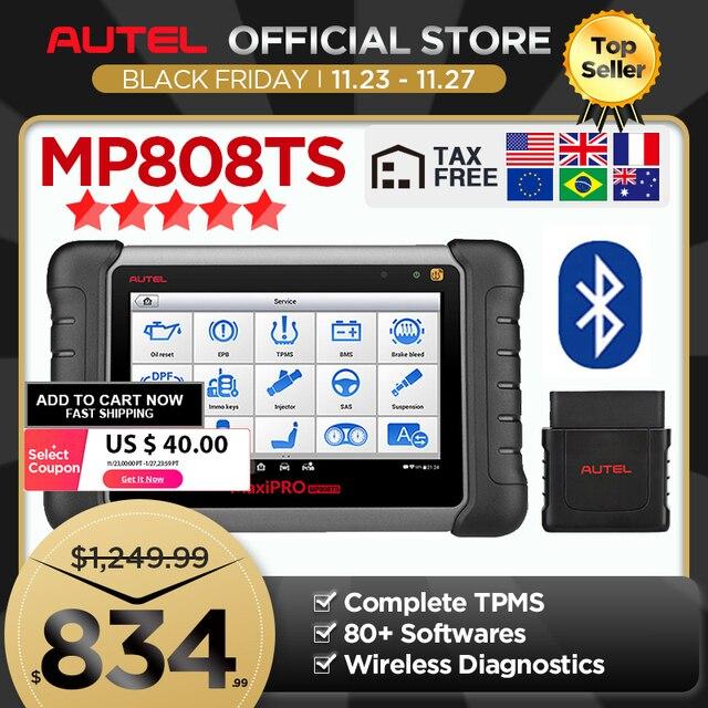 Autel MaxiPRO MP808TS teşhis aracı olarak MS906 ve TS601 PK MK808 AP200 MK808TS kapsamlı TPMS programlama hızlı kargo
