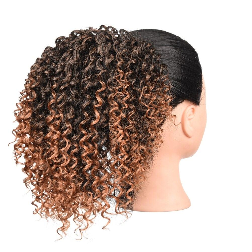 clip em extensão do cabelo pônei cauda para mulher