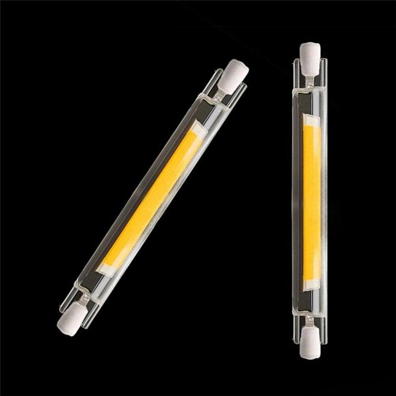 Lâmpada milho super brilhante, regulável, 20w, 40w, r7s, led, 78mm, 118mm, 220v, 110v, r7s lâmpada de led cob, substituição luz de halogênio iluminação de fluxo