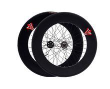 Śledź ostre koło felgi 90mm z oponami 32H piasta rower jednobiegowy zestaw kołowy rama rowerowa ze stopu aluminium