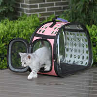 Transparent Cat Dog Carrier Bag Space Capsule Foldable Breathable Portable Outdoor Pet Travel Carrying Handbag for Cat Small Dog