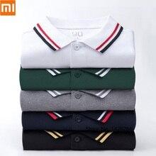 Xiaomi 90 забавная Мужская модная трендовая Классическая рубашка поло с отворотом и коротким рукавом классная шелковистая летняя одежда хлопковая рубашка для отдыха на открытом воздухе