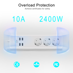 Image 4 - Tuya Wifi כוח רצועת 3 איחוד אירופי חכם שקעי תקע עם 4 יציאות USB חכם בית App קול אלחוטי שלט רחוק עובד עם Alexa