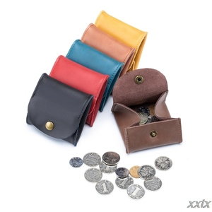 PU Leather Coin Purse Earbuds Earphone Holder Pouch for Women Men Small Wallet Change Pouch Organizer