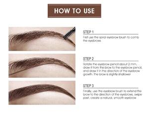 Image 4 - IMAGIC Cosmetic Set Sale 3 Get 1 Black Mascara Liquid Eyeliner 16 Colors Flash Pigment Eye Shadow Eyebrow Pencil