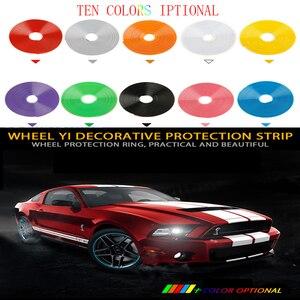 Image 5 - 8メートル/ロールrimblades車の車両の色ホイールリムプロテクター装飾ストリップタイヤガードラインゴム成形トリム