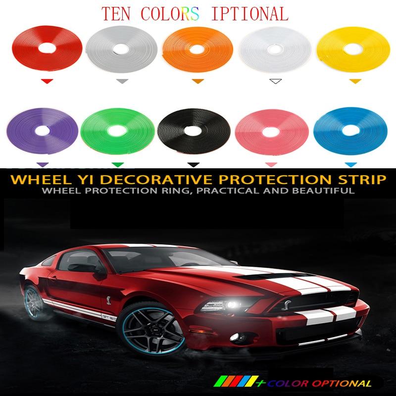 xiaoqian Wheel Rim Protector 8M// Roll Rim Blades Car Vehicle Color Wheel Rims Protectors Decor Strip Tire Guard Line Rubber Moulding Trim Color : Blue