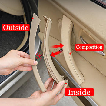 Black gray Beige left Right Car Interior Handle Inner Door Armrest Panel Pull Trim Cover For BMW 3 series E90 E91 328 330 335 image