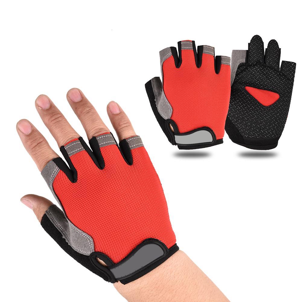 Half Finger Cycling Gloves 1Pair Cycling Gloves Anti-Slip Men Women Half Finger Gloves Breathable Mesh Bike Sports Gloves
