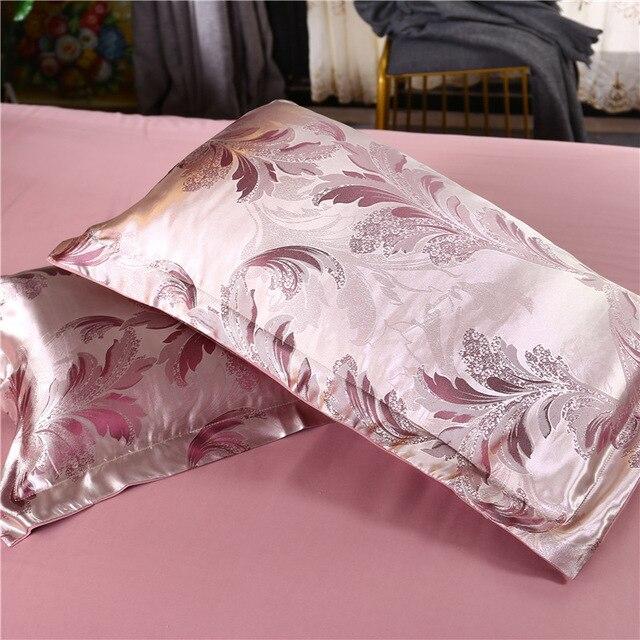 Купить 2 шт атласная шелковая наволочка в стиле ретро с цветочным принтом картинки цена