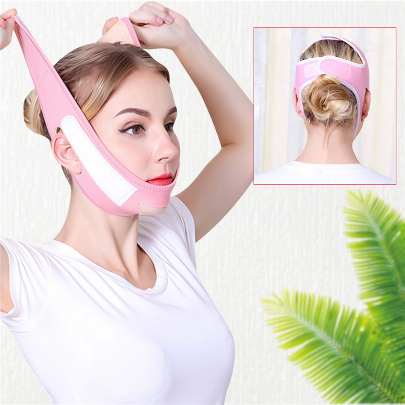 Face Slim V-Line Lift Up Mask Cheek Chin Neck Slimming Thin Belt Strap Beauty Delicate Facial Thin Face Mask Slimming Bandage 36 1
