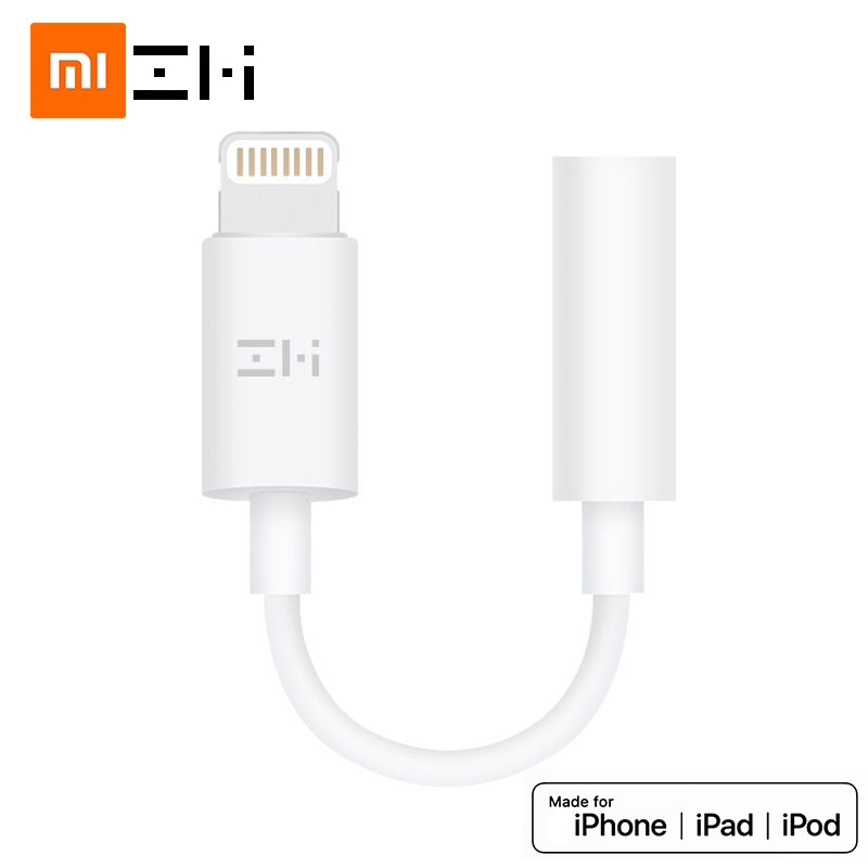 Original ZMI MFi Certified Lightning To 3.5mm Headphone Jack Adapter For IPhone 11 Xs Max Xr  8 7 Plus Audio Converter Aux Cable