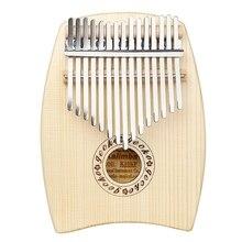 Мбира калимба ель дерево 15 Ключи большой палец Пианино музыкальный инструмент с Сумка для молотка перчатки