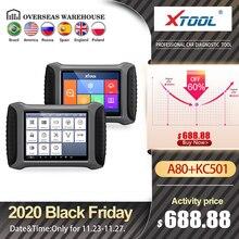 XTOOL A80พร้อมBluetooth/WiFiรถOBD2 Full System Diagnostic Toolซ่อมเครื่องมือสแกนเนอร์อายุการใช้งานฟรีUpdate