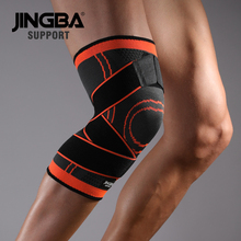 лучшая цена JINGBA SUPPORT Sport Basketball Volleyball knee protector Fitness Protective gear knee pads Elastic knee brace support rodillera