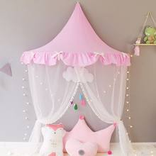 Kids Teepee Tents Children Play House Cotton Bed Tent Canopy Foldable Crib Tent Baby Room Decor Birthday Gifts Photography Props(China)