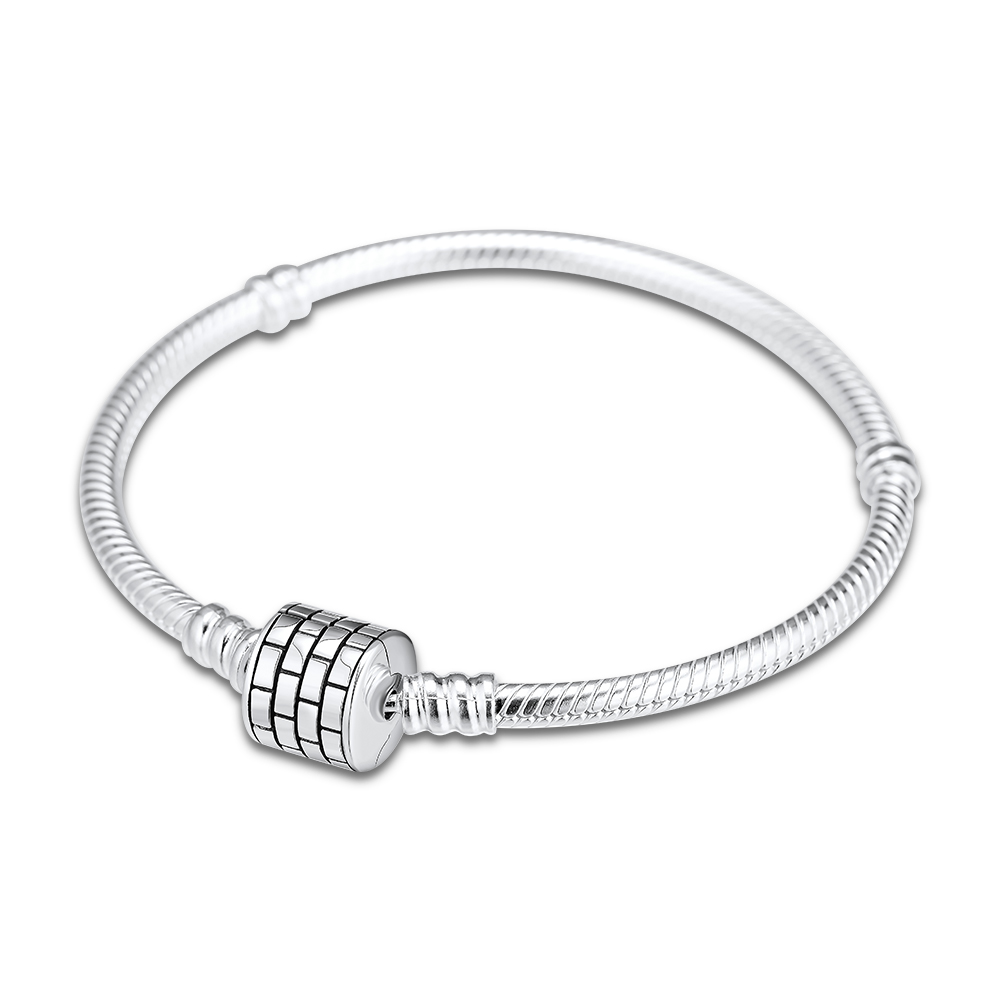 100 925 Sterling Silver Barrel Clasp