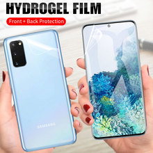 Ön + arka yumuşak TPU filmi ekran koruyucu Samsung Galaxy not için 10 Lite S10 S20 artı Ultra S10E A8 artı 2018 M20 hidrojel Film