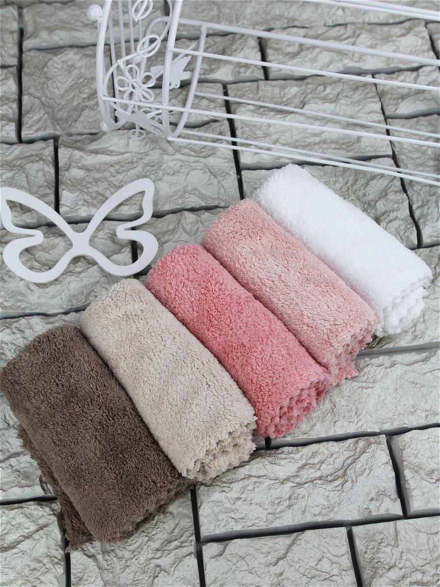 1SET (5 PIECES) Extra Thick Microfiber Cleaning Cloths with 5 Colors, Super Absorbent Dust Cloths Buffing Cloths