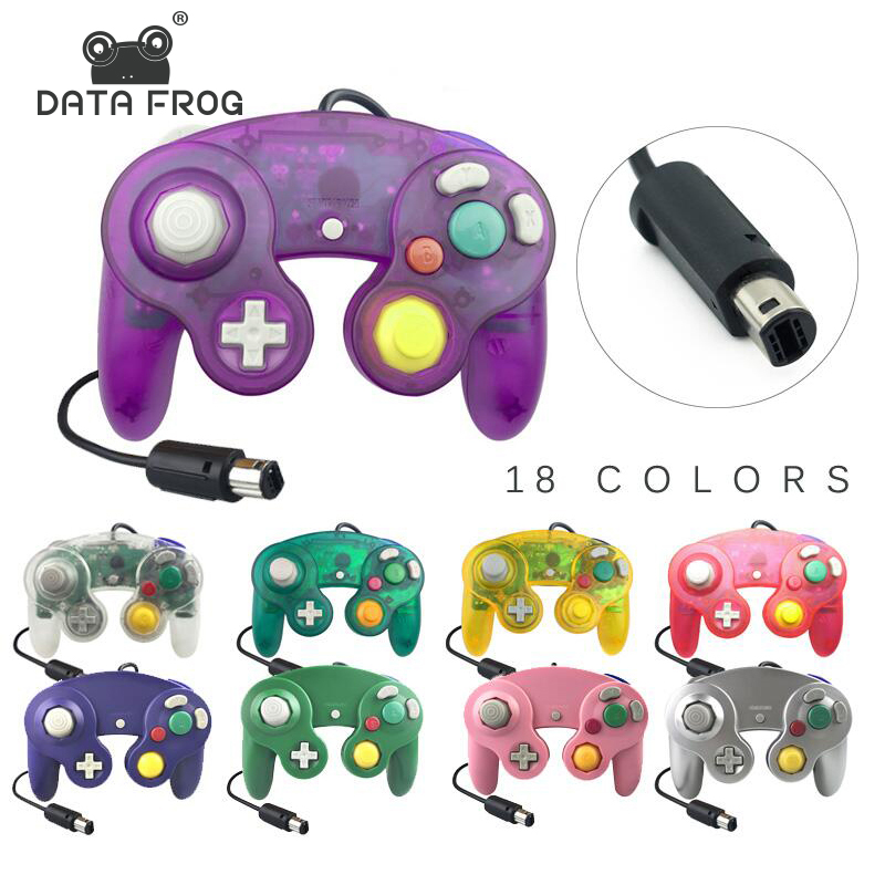 DATA FROG Wired Joypad Controller For Gamecube Controller Handheld Joystick For Computer For Nintend For Wii Vibration Gameing