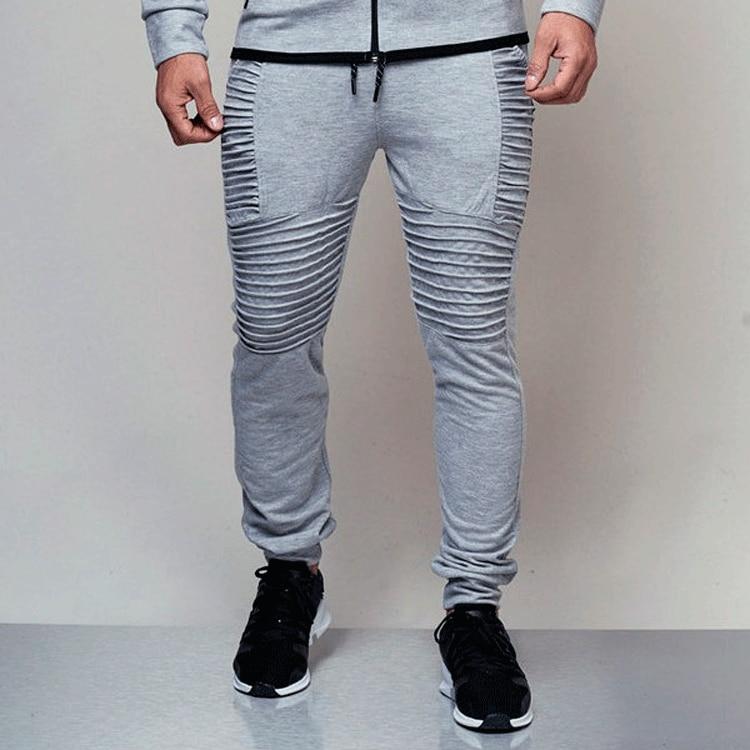 Autumn Brand Men Pants Hip Hop Harem Joggers Pants 2019 Male Long Trousers Fashion Joggers Fold Pants Sweatpants Black Grey