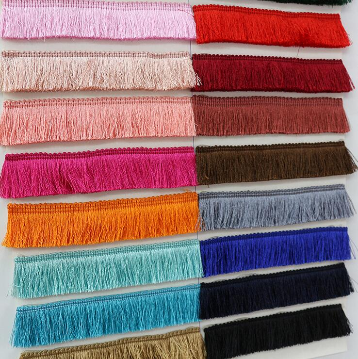 Heartwish268 Fringe Trim Lace Polyerter Fibre Tassel 6inch(/″) Wide 10 Yards Long for Clothes Accessories and Latin Wedding Dress and DIY Lamp Shade Decoration Black White Red Gold